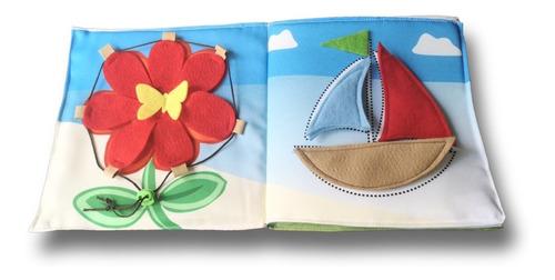 Libros Sensoriales De Tela - Mi Primer Libro De Actividades
