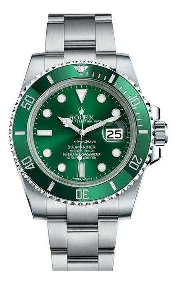 Relógio Mod Submariner Verde Base Eta 2840 - Aço 904l
