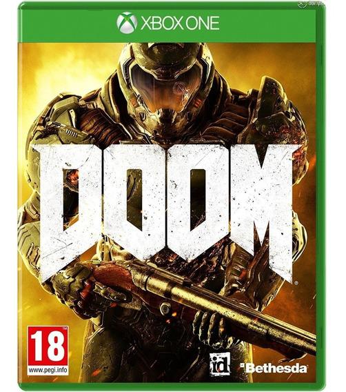 Jogo Doom Xbox One Mídia Física Cd Original Novo Português