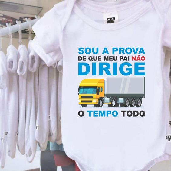 Body Bebê Profissões Caminhoneiro Tal Pai Tal Filha Filho
