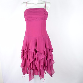 Hollywood Vestido Midi Fucsia 4 Msrp $1,199