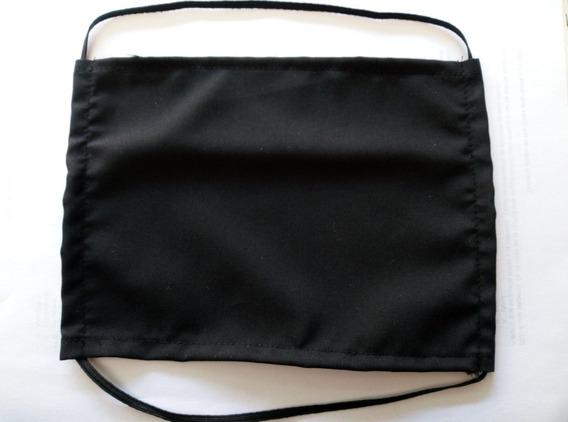 Cubrebocas Negro De Tela (lavable)