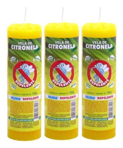 3 Velas Votiva Aromáticas Citronela Mosquito Aromática Aroma
