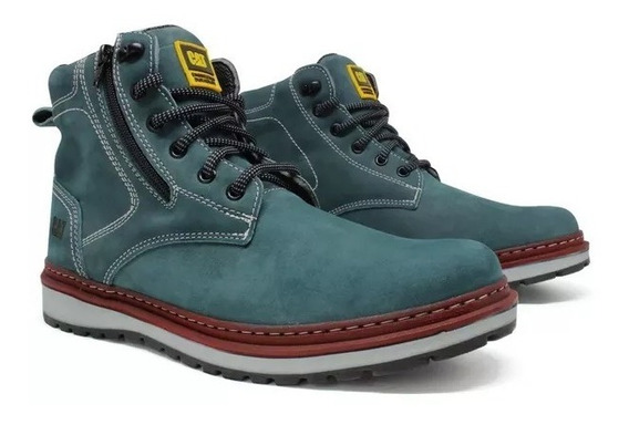 Bota Coturno Caterpillar Masculino Couro Zip One Oferta