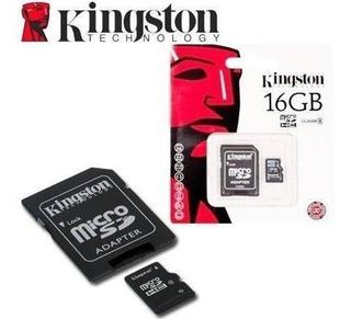 2 Tarjetas De Memoria Pack Micro Sd De 16gb Kingston Clase10