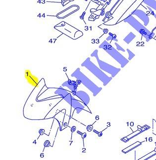 Para-lama Dianteiro Azul Yamaha Tdm 900 R 2003 Original