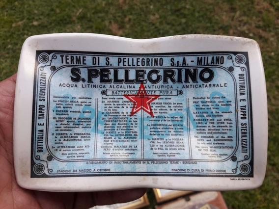 Antiguo Plato Publicitario Aguas De Peregrino Italia 1950