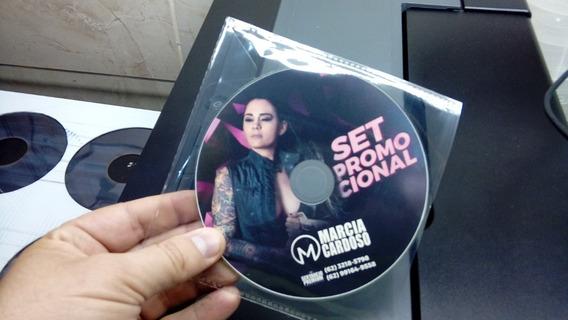 Cds Dvds Personalizados Com Envelope Plástico Kit Com 05 Und