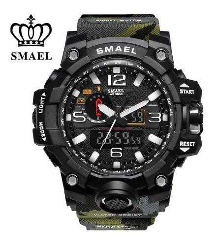 Relógio Masculino Militar Tático Original Shock Smael Camufl