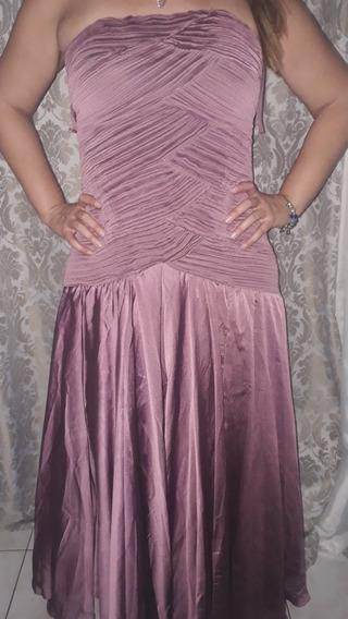 Vestido De Festa Tam 44 Vinho Usado Uma Única Vez