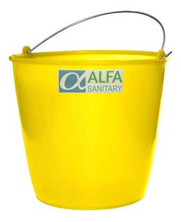 Cubeta De Plástico Flexible P/ Limpieza No.14 Amarilla 10 Lt