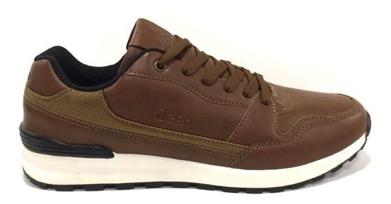 Zapatos Jeep Originales Para Hombres - Jps160048 - Brown