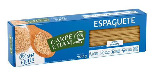 Imagem 1 de 2 de Espaguete Zero Glúten Arroz Integral 400g Carpe Etiam
