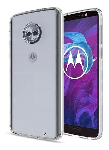 Estuche Transparente Motorola Moto G6 Plus Bordes Reforzados