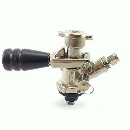 Imagem 1 de 3 de Válvula Extratora P/ Chopp Tipos (keg)+tampa P/ Carbonatação