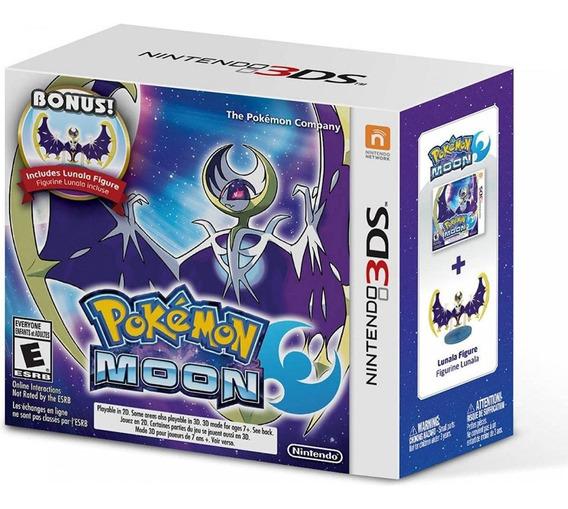 Pokemon Moon + Bonus Lunala Figure - 3ds - Original - Nf