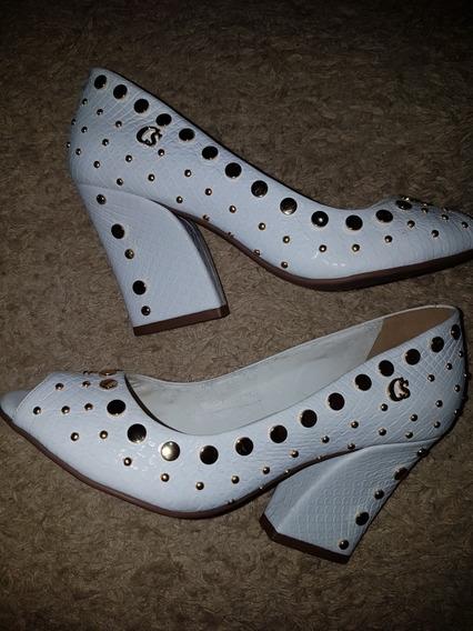 Sapato Peep Toe Carmen Steffens Tamanho 34