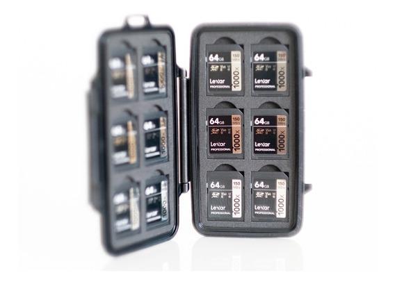 Kit Com 12 Cartões Sdxc Lexar 64gb 1000x