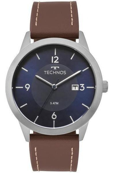 Relógio Technos Masculino Classic Steel Prata - 2115mog/0a