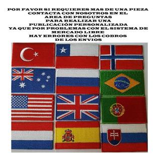 Parche Bordado Banderas Paises , Personaliza Prendas