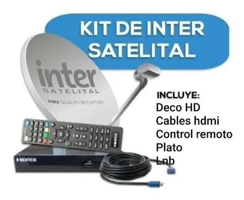 Kit Inter Satélital Deco Hd Rec + Lnb + Adaptadores + Código
