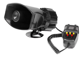 Sirena 100w 7 Sonidos Tono Alarma Moto Auto Policia Megafono