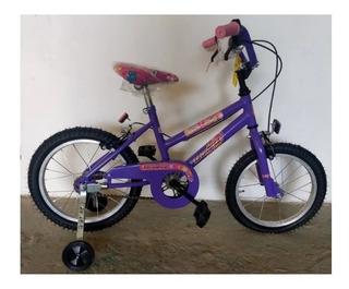 Bicicleta Infantil Cross Con Freno Nena R.14 C/rueditas