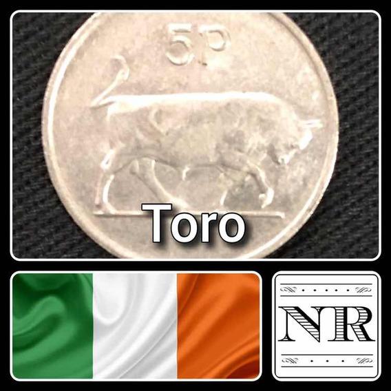 Irlanda - 5 Pingin - Año 1980 - Km # 22 - Toro