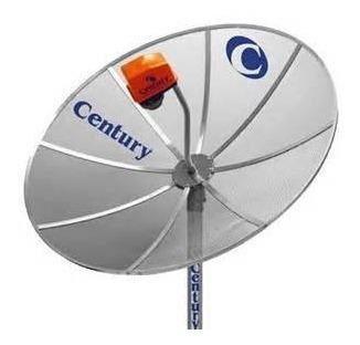 Antena Parabólica Century, 1,30mt De Chapa, Completa