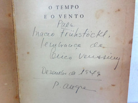 O Tempo E O Vento De Erico Verissimo Livro Raro Autografado