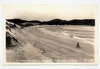 Cartao Postal Cabo Frio - Rj - Hotel Lido E Praia - Anos 50