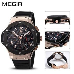 Relógio Megir 3002 Dourado Analógico Aço Inoxidável