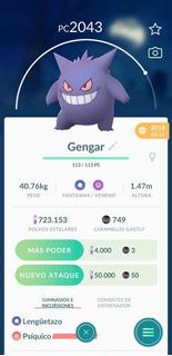 Gengar Pokemon Go Por Intercambio Legacy +2000pc