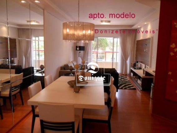 Apartamento Com 3 Dormitórios À Venda, 133 M² Por R$ 645.000,10 - Vila Assunção - Santo André/sp - Ap0106