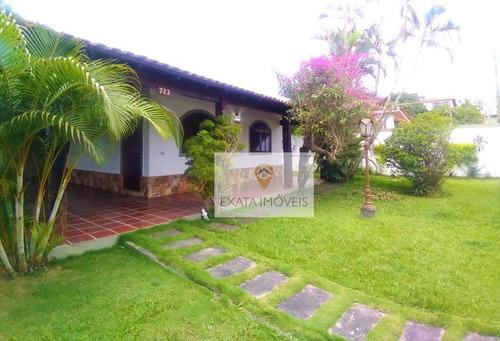 Imagem 1 de 30 de Linda Casa Linear 3 Quartos, Centro/ Rio Das Ostras! - Ca1265