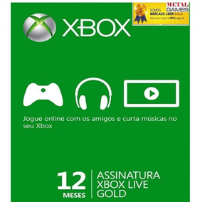 Xbox Live Gold 12 Meses Br Xbox 360 / Xbox One 25digitos