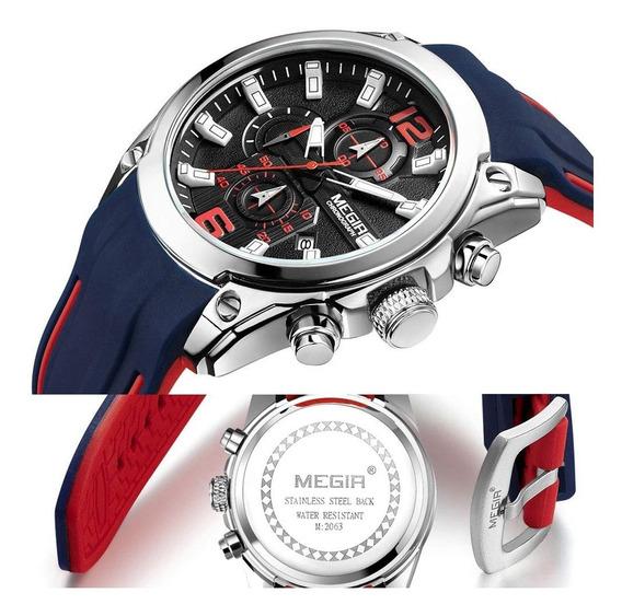 Relógio Megir 2063 Masculino Original Esportivo
