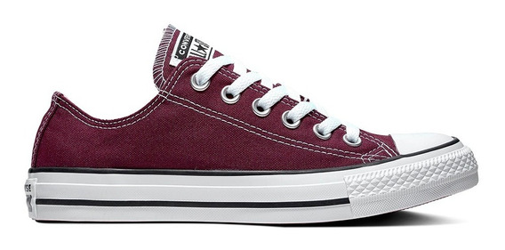Converse Chuck Taylor All Star Baja Lona Bordo 164726c
