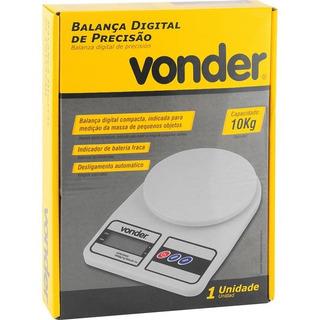 Balança De Cozinha Alta Precisão Digital 10kg Vonder