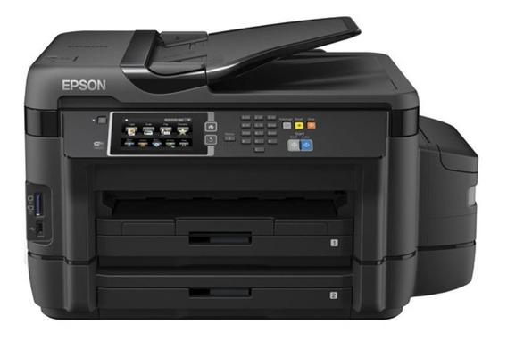 Impressora a cor multifuncional Epson EcoTank L1455 com wifi 110V/220V preta