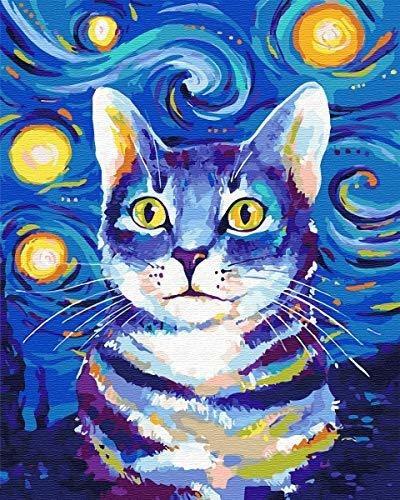 Vato Diy Pintura Al Oleo Pintura Por Numeros Kit Lienzo Pint