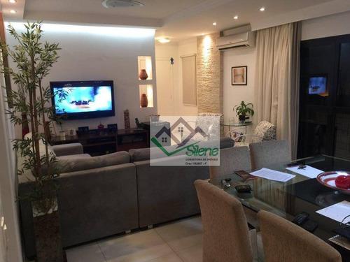 Apartamento Em Pompéia, Santos/sp De 143m² 4 Quartos À Venda Por R$ 780.000,00 - Ap964172
