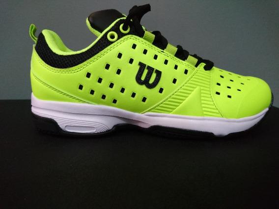 Zapatillas Tenis Wilson Set Hombre Lime/black (l1m1a) S+w