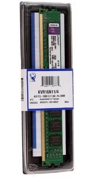 Memoria Kingston 4gb 1600 Mhz Ddr3 Para Desktop Pc Envio 24h