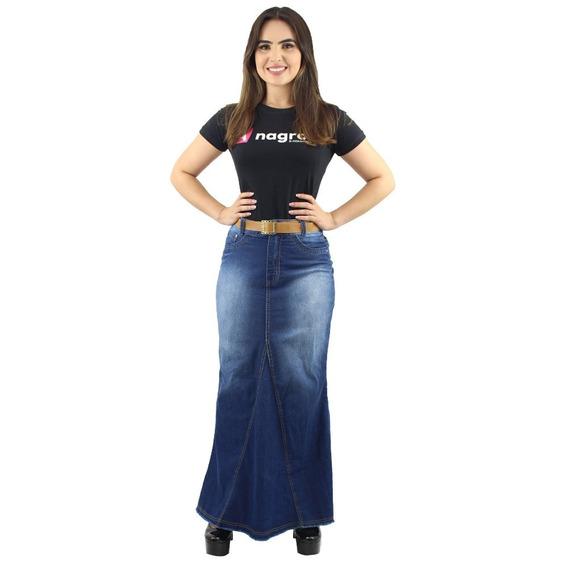 Promoção Kit 2 Saias Longas Jeans Moda Evangélica Evangélica