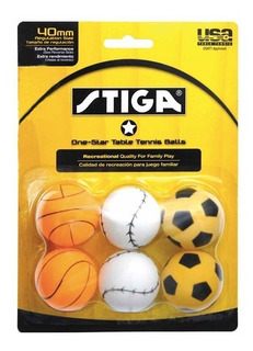 6 Pelotas Ping Pong Stiga Balon Pelota Star Table Tennis