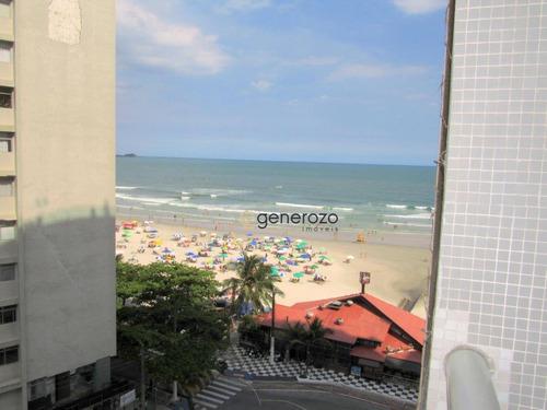 Apartamento Com 02 Dormitórios, Prédio Frente À Praia, Pitangueiras - Ap0395