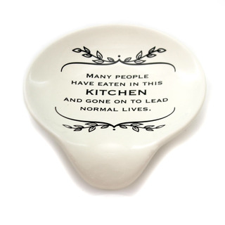 Kitchen Cocina Normal Vive Spoon Rest Ceramic