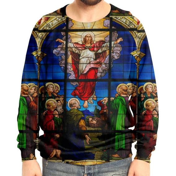 Moletom Raglan Unissex Vitral Jesus