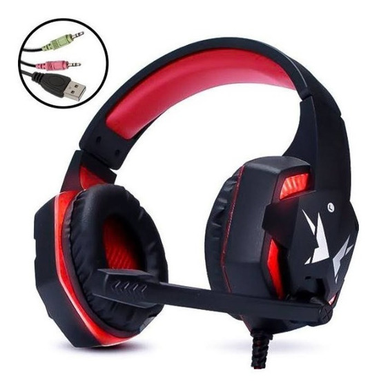 Fone Headphone Gamer Com Led Exbom Hf-g600